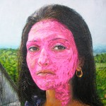 A Famous Pose in Fuchsia Paint