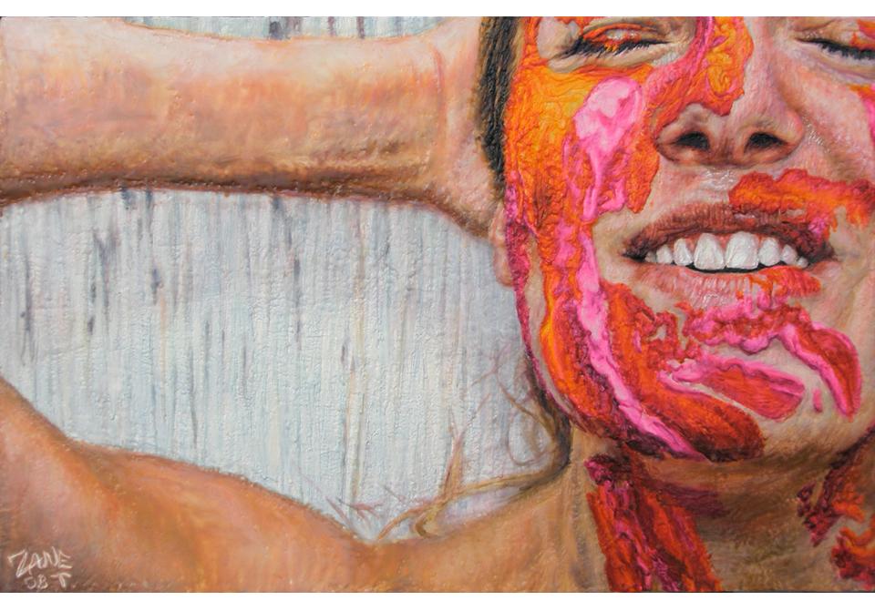 Haaauugh Orange and Fuchsia Paint
