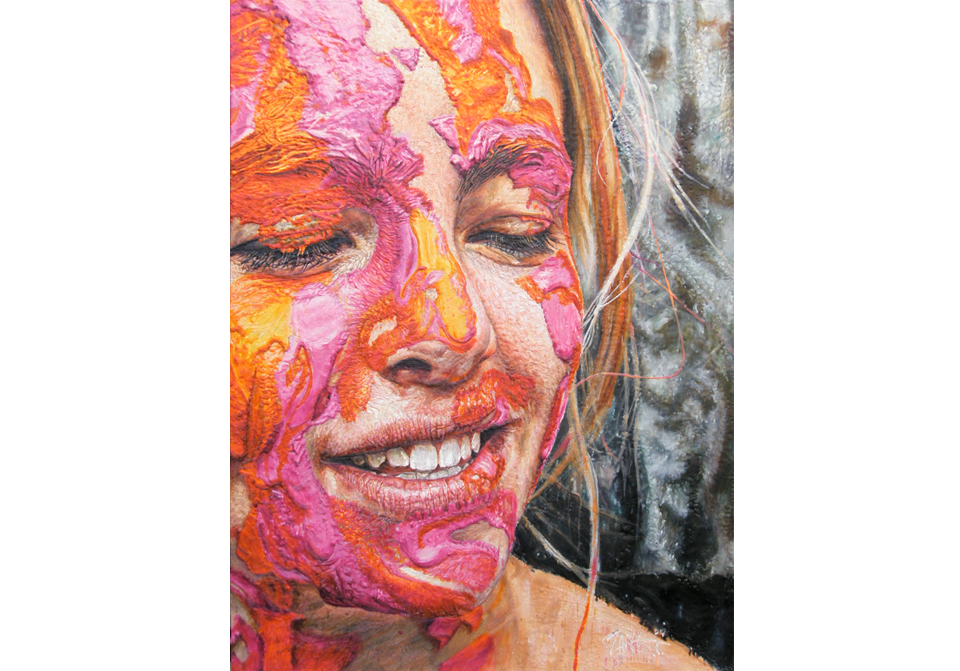 Heea Orange and Fuchsia Paint